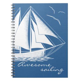 Awesome sailing, nautical notebooks