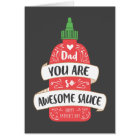 Awesome Sauce Father's Day Card