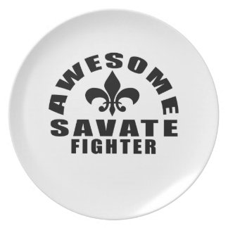 AWESOME SAVATE FIGHTER PLATE