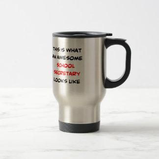 awesome school secretary travel mug