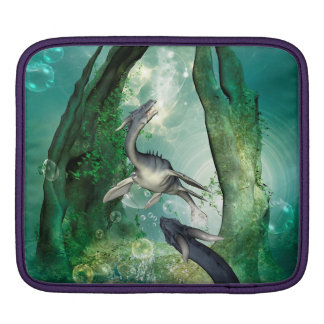 Awesome seadragon in a fantasy underwater world iPad sleeves