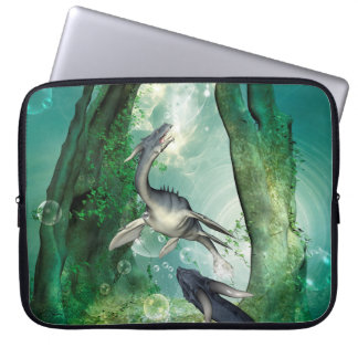 Awesome seadragon in a fantasy underwater world laptop computer sleeves