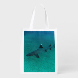 Awesome Shark in the Deep Reusable Grocery Bag
