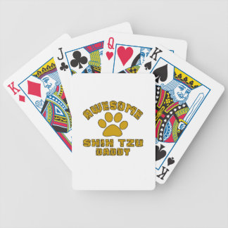 AWESOME SHIH TZU DADDY BICYCLE PLAYING CARDS