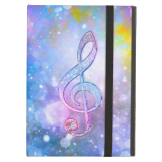 Awesome shining effects treble clef soft colours iPad cover