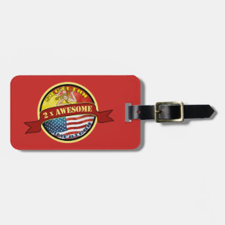 Awesome Sicilian American Luggage Tag Template