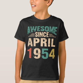 Awesome Since April 1954 64 Years Old T-Shirt
