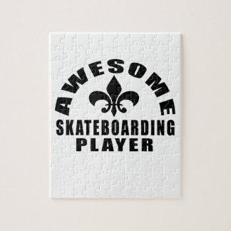 AWESOME SKATEBOARDING PLAYER JIGSAW PUZZLE