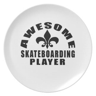 AWESOME SKATEBOARDING PLAYER PLATES