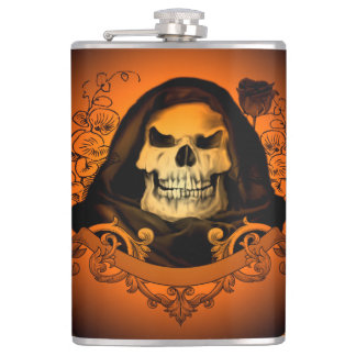 Awesome skull hip flask