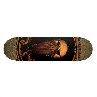 Awesome skull on a frame 21.6 cm skateboard deck