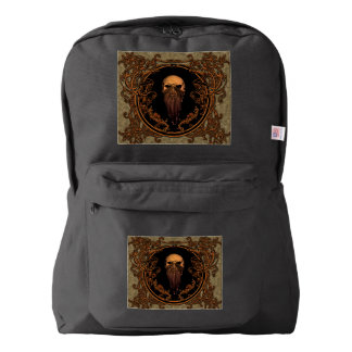 Awesome skull on a frame backpack