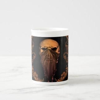 Awesome skull on a frame tea cup