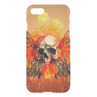 Awesome skull with roses iPhone 7 case