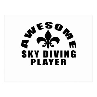 AWESOME SKY DIVING PLAYER POSTCARD