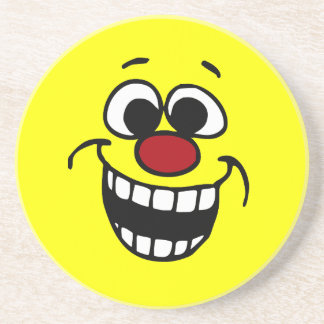 Awesome Smiley Face Grumpey Coaster