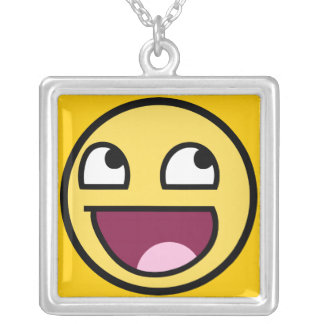 awesome smiley face rage f7u12 funny meme necklace