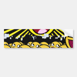 Awesome Smiley Faces Yellow Emoticon Bumper Sticker