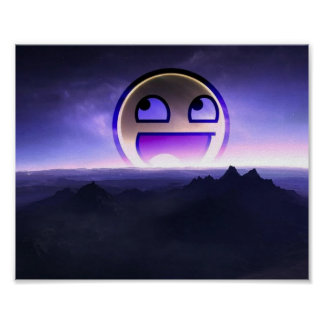 Awesome Smiley landscape Poster