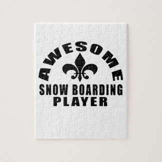 AWESOME SNOW BOARDING PLAYER JIGSAW PUZZLE