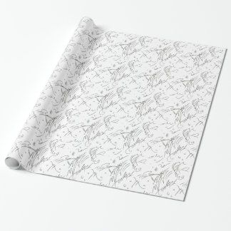 """""""Awesome!"""" Squiggles Wrapping Paper"""
