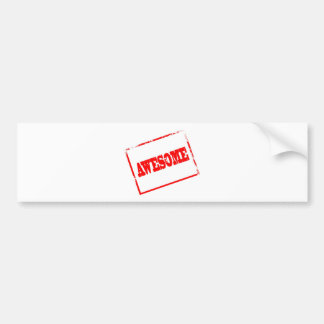 Awesome Stamp Bumper Sticker