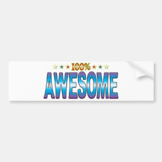 Awesome Star Tag v2 Bumper Stickers