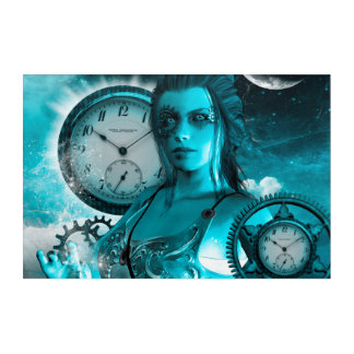 Awesome steampunk lady in the universe acrylic wall art