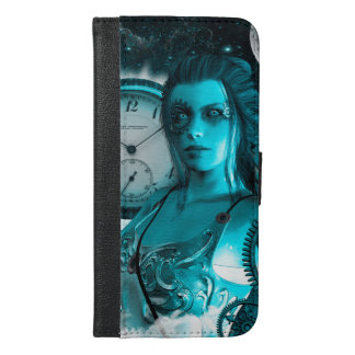 Awesome steampunk lady in the universe iPhone 6/6s plus wallet case