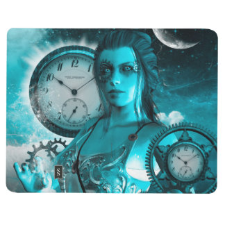Awesome steampunk lady in the universe journal