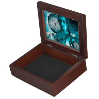 Awesome steampunk lady in the universe keepsake box
