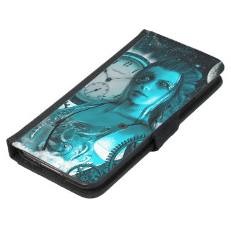 Awesome steampunk lady in the universe samsung galaxy s5 wallet case