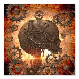 Awesome steampunk Skull 13 Cm X 13 Cm Square Invitation Card