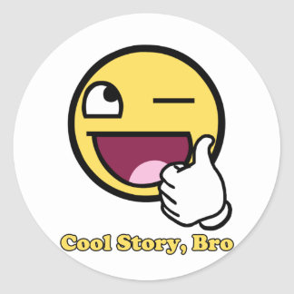 Awesome Story Round Sticker