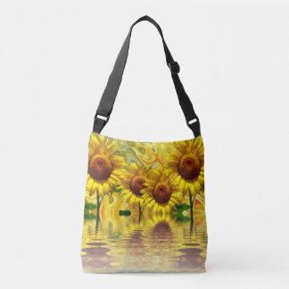 Awesome Sunflower Design Crossbody Bag
