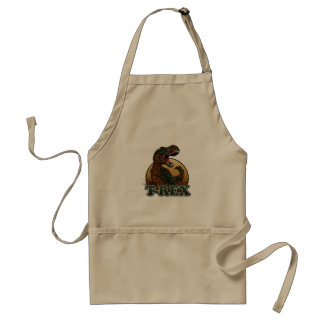 awesome t-rex brown and green illustration standard apron