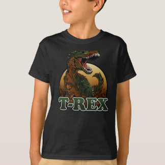 awesome t-rex brown and green illustration T-Shirt
