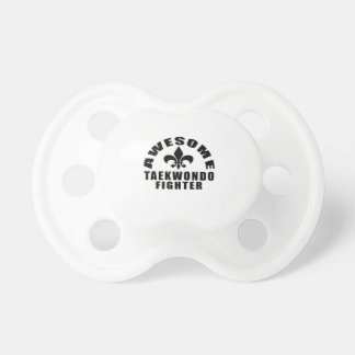 AWESOME TAEKWONDO FIGHTER BABY PACIFIER