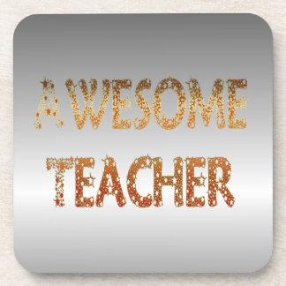 Awesome Teacher Cork Coaster