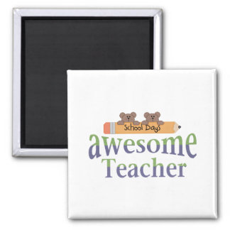 awesome Teacher Square Magnet