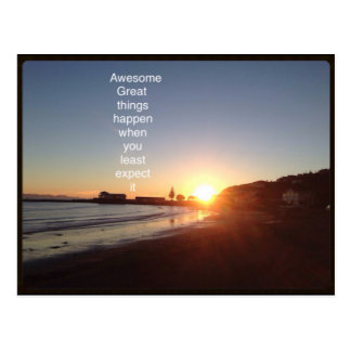 Awesome things happen postcard