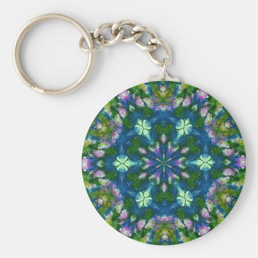 Awesome Tie Dye Inspired Retro Abstracts Key Chain