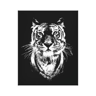 Awesome tiger cat portrait. Wildlife Canvas Print
