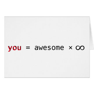 awesome times infinity valentine's day card