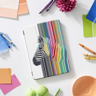 awesome trendy colourful vibrant stripes zebra iPad pro cover