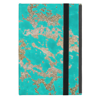 Awesome trendy modern faux gold glitter marble cover for iPad mini