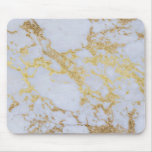 Awesome trendy modern faux gold glitter marble mouse pad