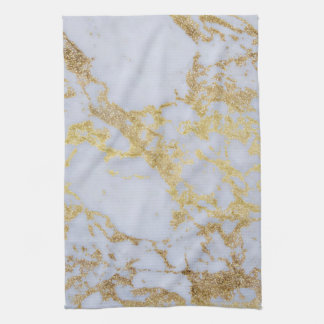 Awesome trendy modern faux gold glitter marble tea towel