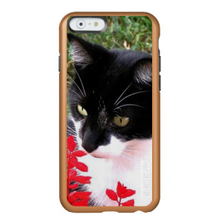 Awesome Tuxedo Cat in Garden Incipio Feather® Shine iPhone 6 Case