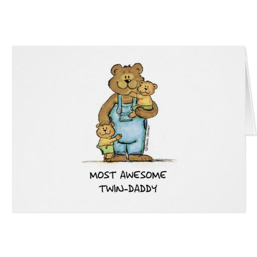 Awesome Twin Daddy Cards